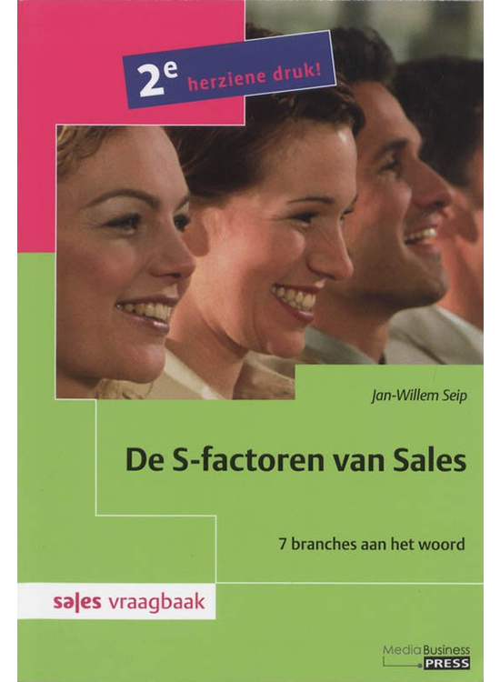 Cover boek de S-factoren van sales